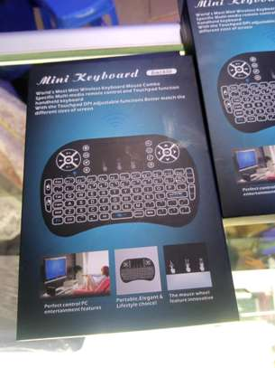 Mini 2.4GHz Mini Wireless Keyboard w Touchpad Mouse, LED Backlit image 1