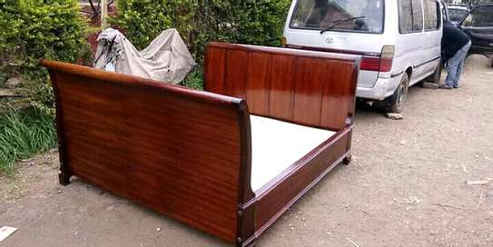 Mahogany wood bed image 1