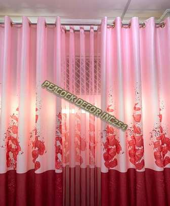 Elegant printed curtains and sheers image 2