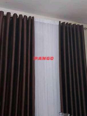 Elegant chocolate brown Curtains image 9