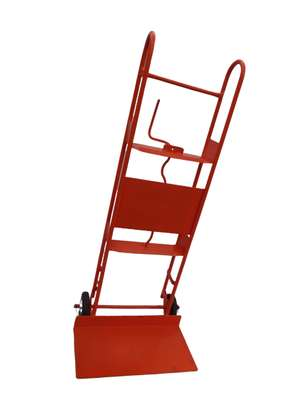 Red hand truck trolley