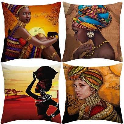 ELEGANT AFRICAN THEME THROWPILLOWS image 4