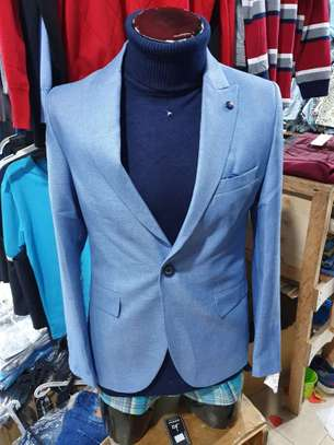 Slim Fit Single One Button Blazer Jackets for Men image 7