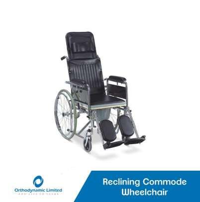 Standard commode wheelchair image 4