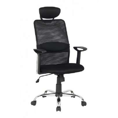 MESH CHAIR BACKREST WITH HEADREST image 1