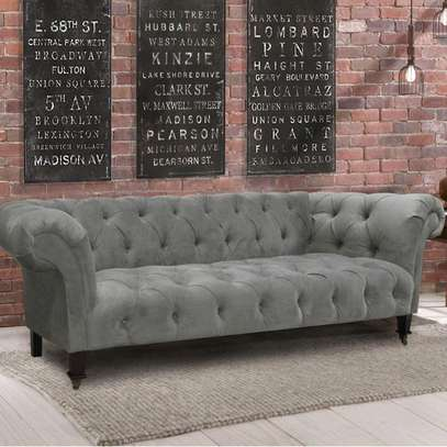 Grey three seater sofa/sofas for sale in Nairobi Kenya/Modern grey tufted sofas image 1