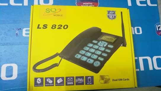 SQ LS 180 Dual Sim Desktop Office Phone With FM Radio 2000mah Battery image 2