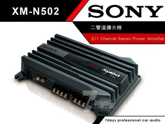 SONY XM-N502 2 CHANNEL BRIDGEABLE AMPLIFIER 500W image 2