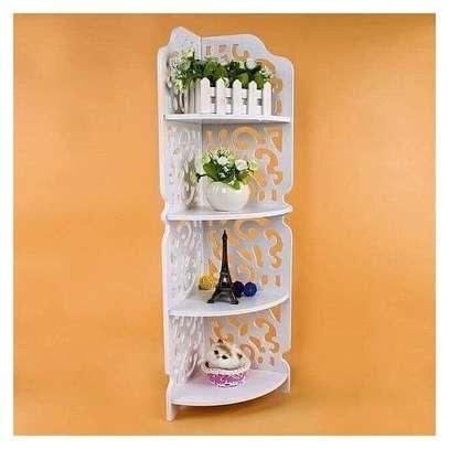 4 Tier Multipurpose Corner Decor Shelf/stand image 1