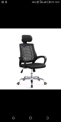 Office chair with back support for back pain relief image 1