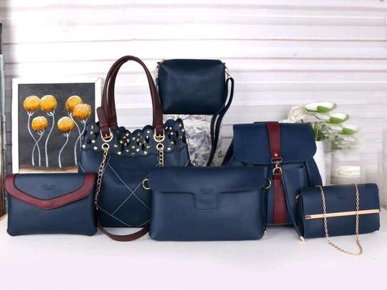 Navy blue ladkes handbags 6 in 1 image 1