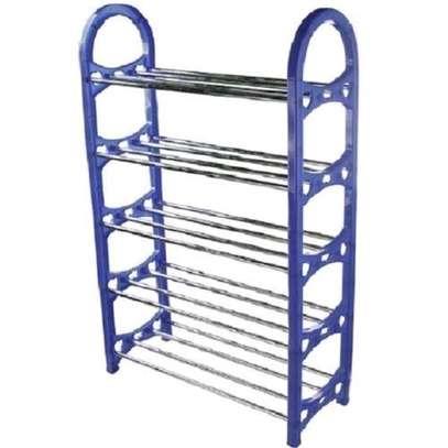 Plastic Shoe Rack Blue image 1