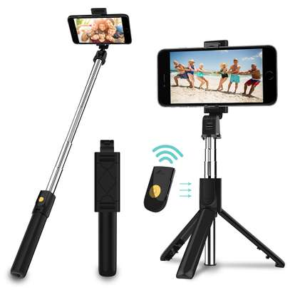 3 in 1 Wireless Bluetooth Selfie Stick for iphone/Android/Huawei Foldable Handheld Monopod Shutter Remote Extendable Mini Tripod image 1