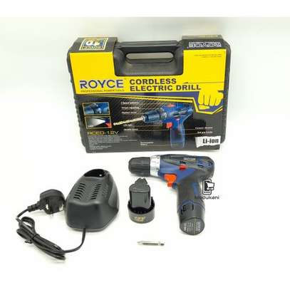 Royce RED 12V Cordless Electric Drill With 2 Batteries image 1