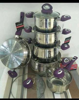 12pc Induction Cookerware/stainless steel sufuria/12pc Cookerware image 1