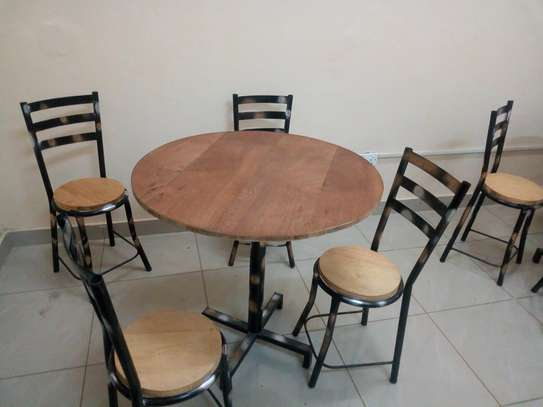 Tables and chairs for hotel restaurant or pub