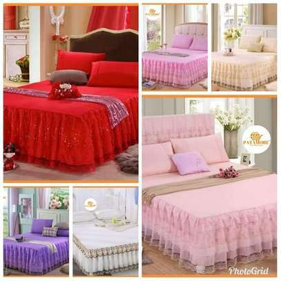 3PCS Bed Skirts 2 Pillowcase bed cover