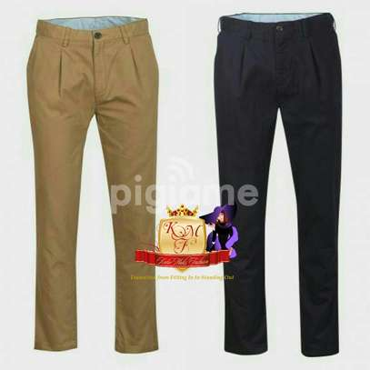 Men's Designer Slim Fit Khaki Pants