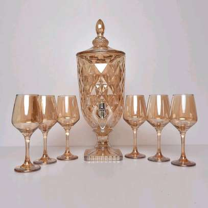 Wine decanters with glasses image 4