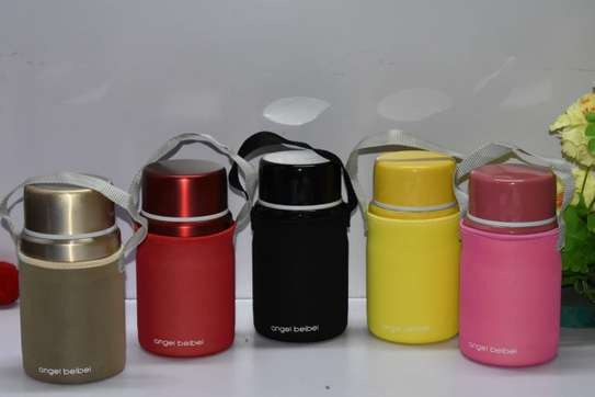 FOOD FLASK WITH MATCHING CARRIER BAG