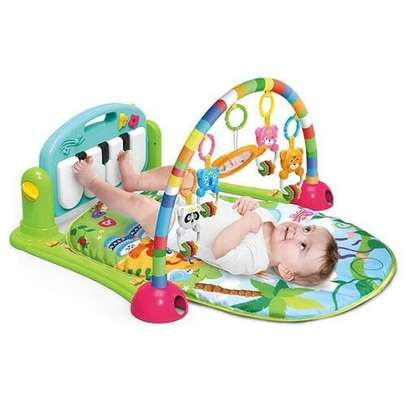 Folding Soft Musical Baby Playmat with Light- Green