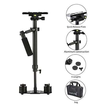 """SuteFoto S60 Stabilizer for Camera 24""""/60cm Steadycam with Quick Release Plate 1/4"""" and 3/8"""" Screw for Nikon, Canon, Sony, Panasonic and Other DSLR Camera -Up to 6.61Ib/3kg"""