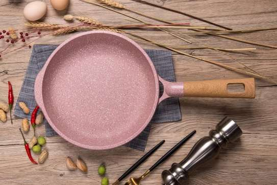 High quality granite coated frying pan image 1