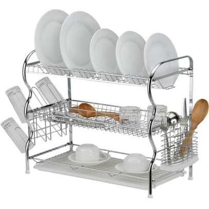 3 layer dish drainer rack