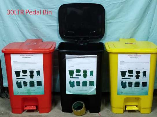 30ltrs plastic pedal dustpin image 1
