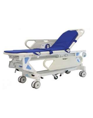 PATIENT TRANSFER STRETCHER TROLLEY / MANUAL / HYDRAULIC / HEIGHT-ADJUSTABLE image 1
