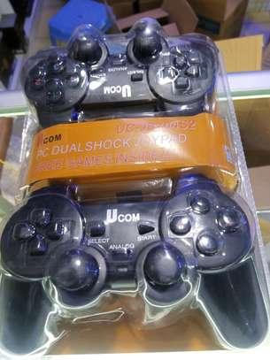UCOM Double PC USB Dualshock Game Controller Pad - Black image 1