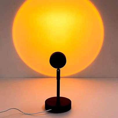 Sunset Projection Lamp Table Usb Rainbow Eternal Sunset Lamp image 1