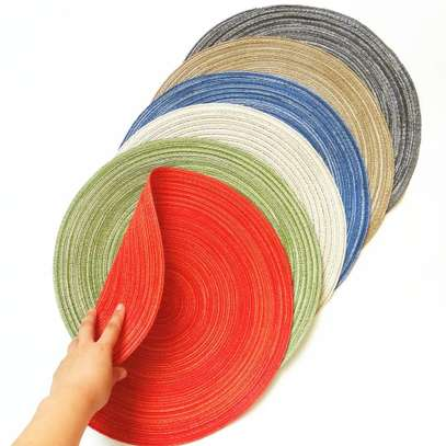Cloth round kitchen mat image 4