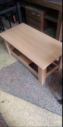 Volumetric wood coffee table image 1