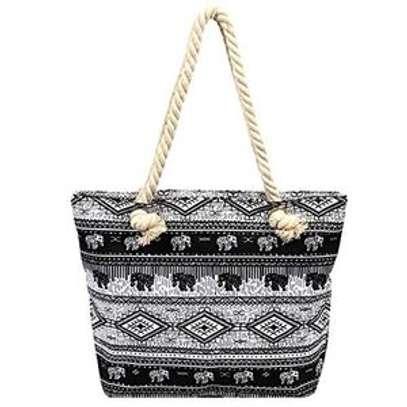 large capacity rope handbag image 4