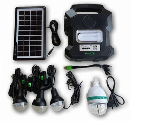 Gdlite GD1000A Solar with 3 LED Bulbs, FM Radio and Mp3 Player image 1