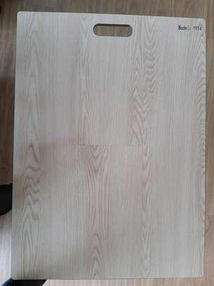Laminated wooden floor tiles image 6
