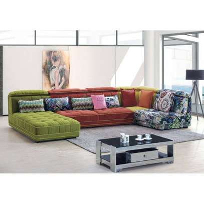 Multicolored fabrics sofas image 3