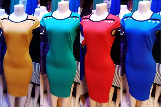 Round Neck Bodycon T-Shirt Dress image 1