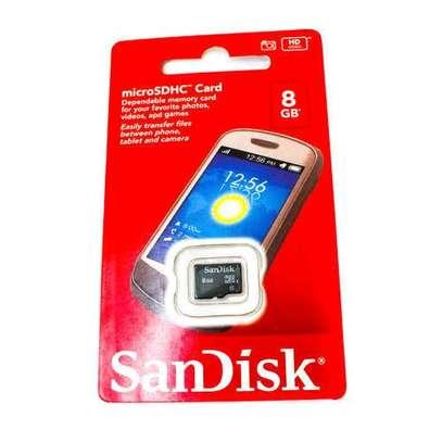 Sandisk 8GB Micro SD - Black image 1