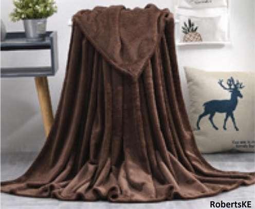 brown fleece blanket image 1