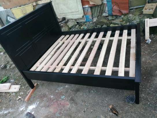 5 by 6 Mahogany bed black.. image 2