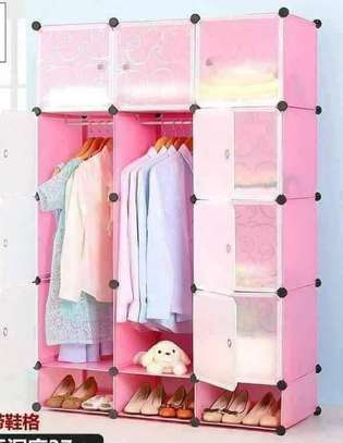 Portable 3 Column Plastic Wardrobes