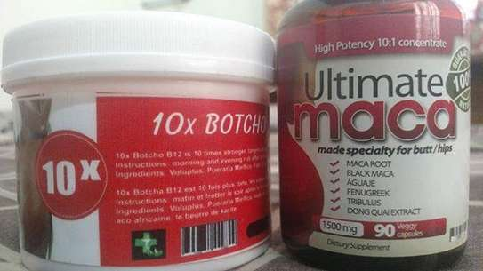 Ultimate maca pills+ botcho cream for hips and butt enlargement