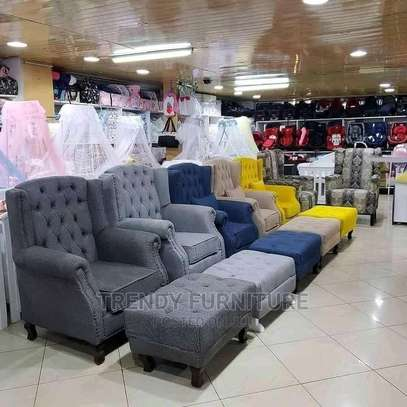 Wingback Chairs With Footpuffs image 1