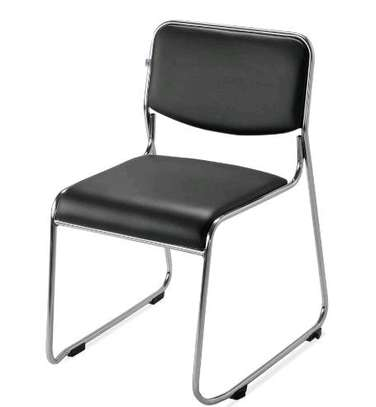 Office visitor chair in black image 1