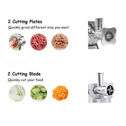 Electric Meat Grinder 1100W Stainless Steel Heavy Duty #12 image 2