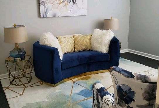 Blue sofas/modern sofas/three seater sofa image 1