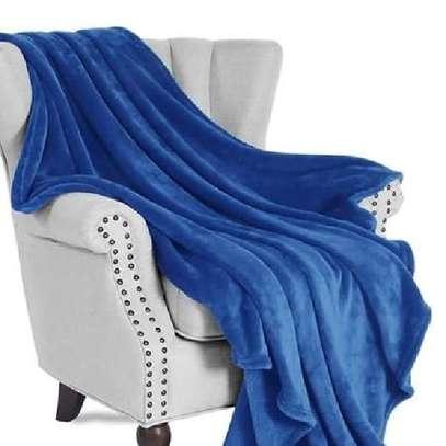 Orange fleece blanket image 2