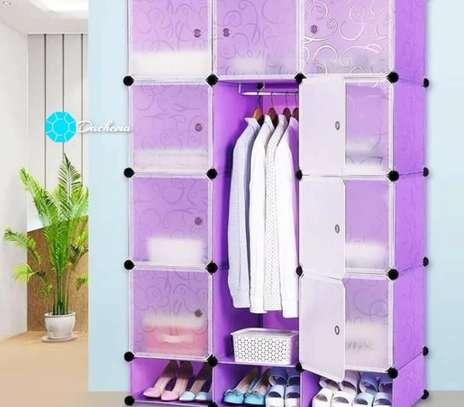 purple portable wardrobes image 1